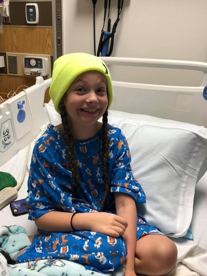 Getting a diagnosis has not necessarily helped Sawyer, 11, with her daily pain.