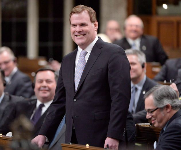 John Baird speaks in the House of Commons in Ottawa on Feb. 3,