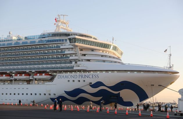A Feb. 6 photo shows the ''Diamond Princess'' cruise