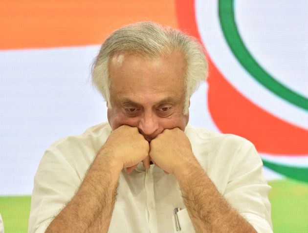 Senior Congress leader Jairam Ramesh during a press conference, at All India Congress Committee (AICC)...