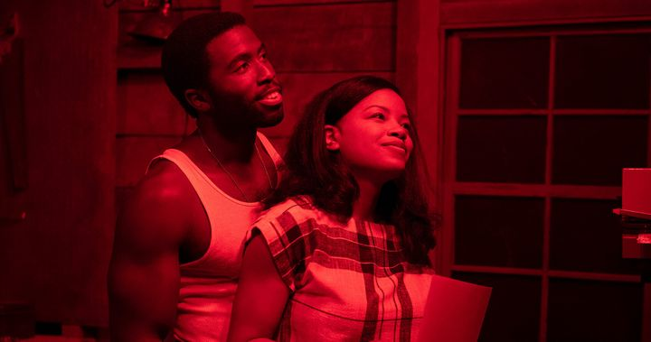 "Nora (Chanté Adams) and Isaac (Y'lan Noel) in ""The Photograph."""