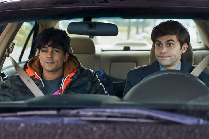"""Niko Terho (left) and Jake Borelli star in """"The Thing About Harry,"""" out Feb. 15 on Freeform."""