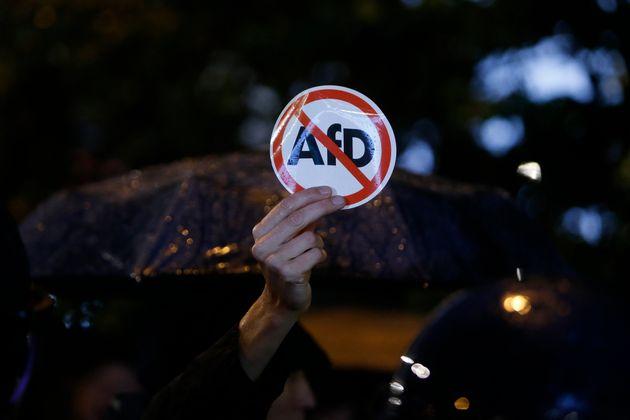 Protesta en Berlín, el 24 de septiembre de 2017, contra la AfD, tras una serie de incidentes