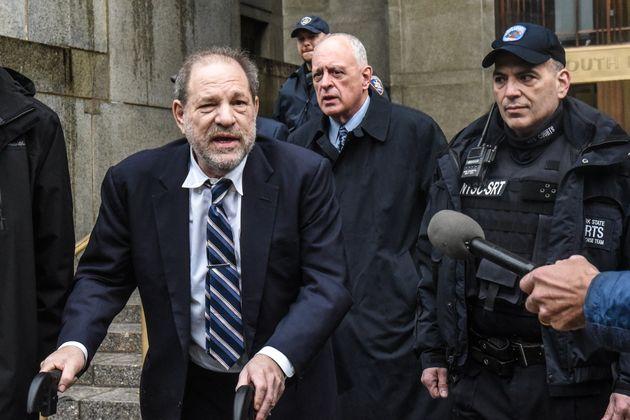 El productor Harvey Weinstein, el 13 de febrero en el Tribunal de Nueva York (Estados