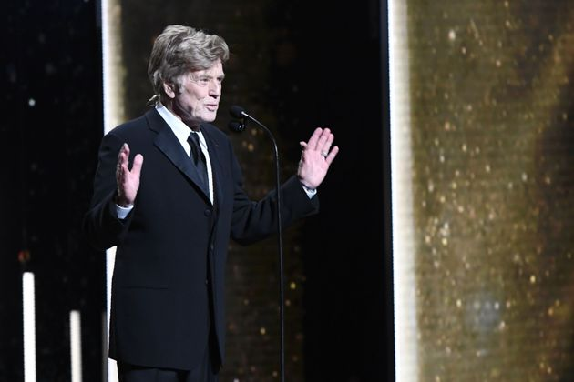 El actor estadounidense Robert Redford, recogiendo el Cesar de Honor en la ceremonia de