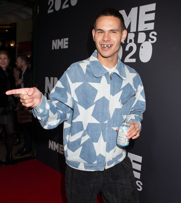 Slowthai at the NME Awards