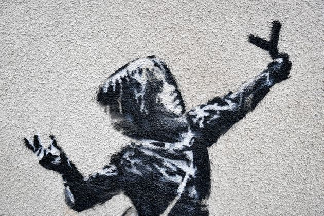 Banksy Returns To His Hometown Bristol With New 'Valentine's' Day