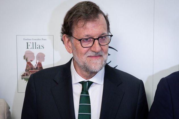 Mariano Rajoy, en la presentación de la novela de Esteban González