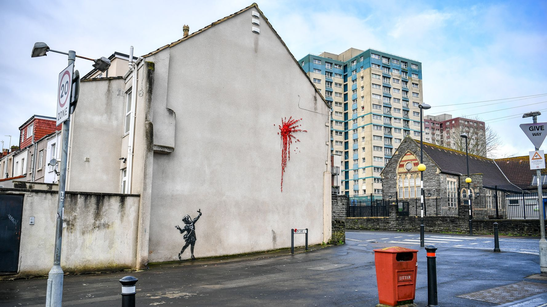 Banksy Returns To Teenage Stomping Grounds With New 'Valentine's' Mural