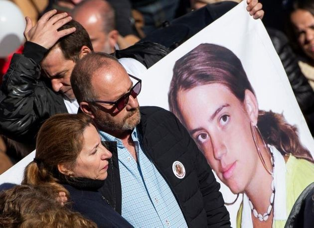 Los padres de Marta del Castillo, en una manifestación convocada por la familia para pedir la...