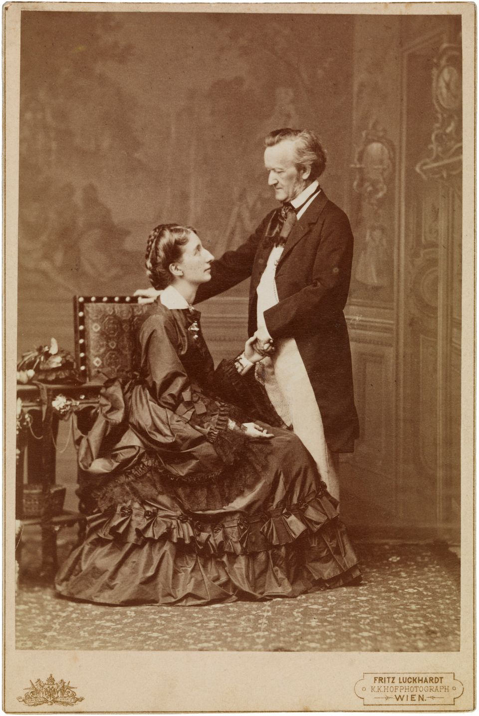 Richard and Cosima Wagner, 9 May 1872, Vienna, 1872. Private Collection. (Photo by Fine Art Images/Heritage Images/Getty Images)