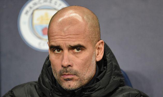 Manchester City, entraîné par Pep Guardiola (ici en novembre 2019 à Manchester), est exclu des compétitions...