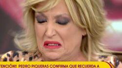 Lydia Lozano rompe a llorar en 'Sálvame' cuando le transmiten este mensaje de Pedro