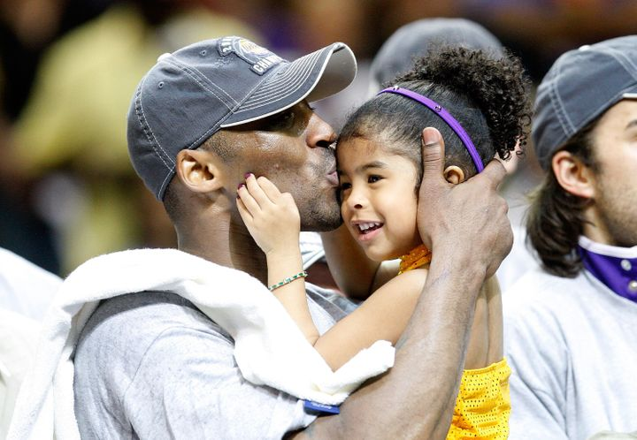 Kobe Bryant and Gianna at Game Five of the 2009 NBA Finals on June 14, 2009.