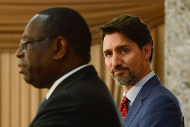 Prime Minister Justin Trudeau takes part in a joint press conference with Senegal President Macky Sall...