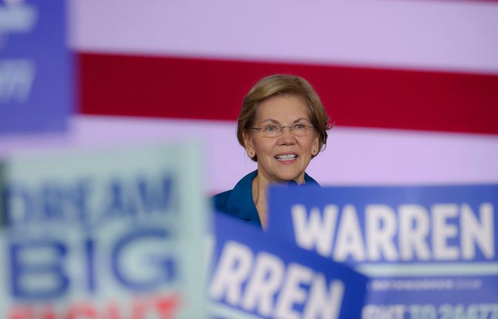 Sen. Elizabeth Warren (D-Mass.) would introduce a public option and then, after two years, ask Congress to take up Medicare f