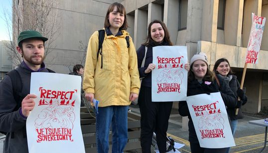 Wet'suwet'en Allies Say B.C. Gov't Pickets Are About More Than A