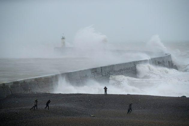 Le nord de la France sous la tempête