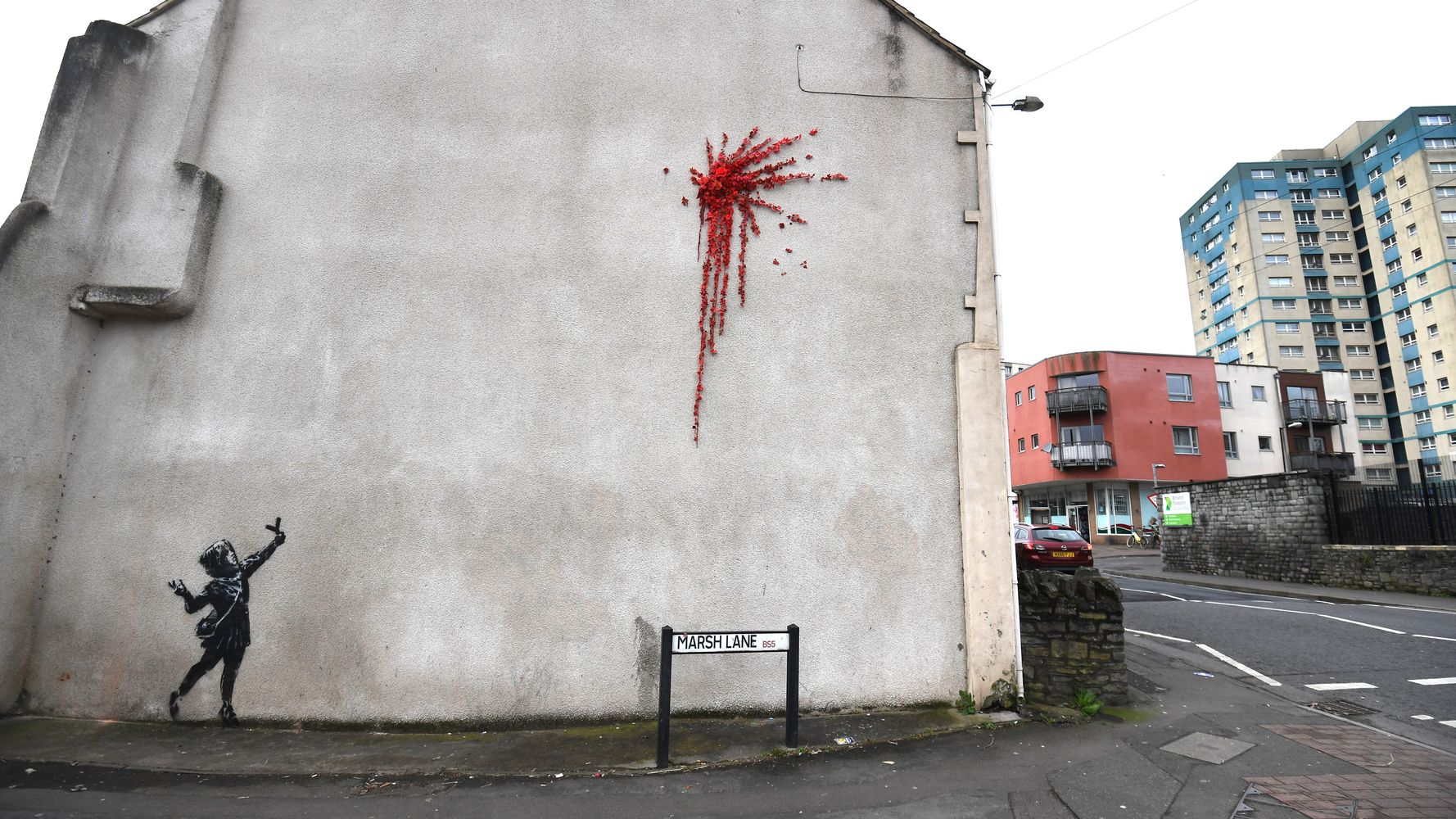 No Love Lost! Banksy's 'Valentine's' Mural Lasts Less Than 48 Hours