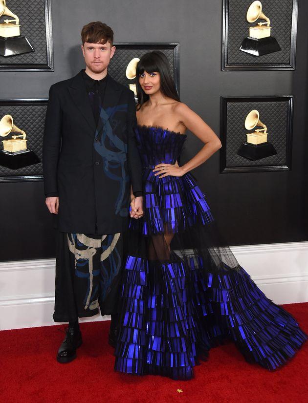 James Blake et Jameela Jamil aux Grammy Awards le 26
