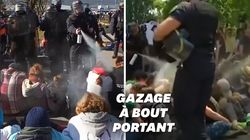 L'aéroport de Chambéry bloqué, les manifestants délogés avec des gaz