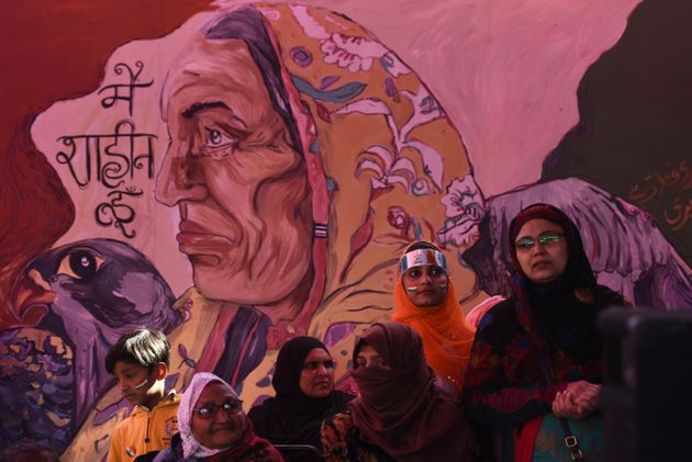Women gathered in large numbers to celebrate the 71st Republic Day during the ongoing protests against...