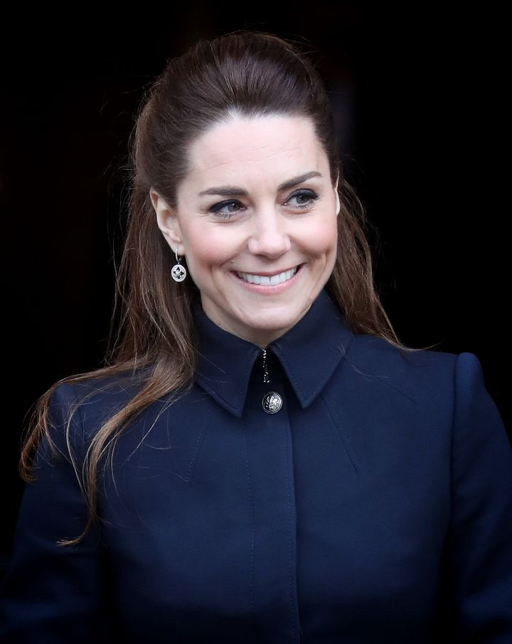 LOUGHBOROUGH,  - FEBRUARY 11: Catherine, Duchess of Cambridge visits the Defence Medical Rehabilitation Centre, Stanford Hall
