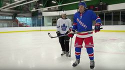 Justin Bieber Skates Circles Around Jimmy Fallon In Hockey