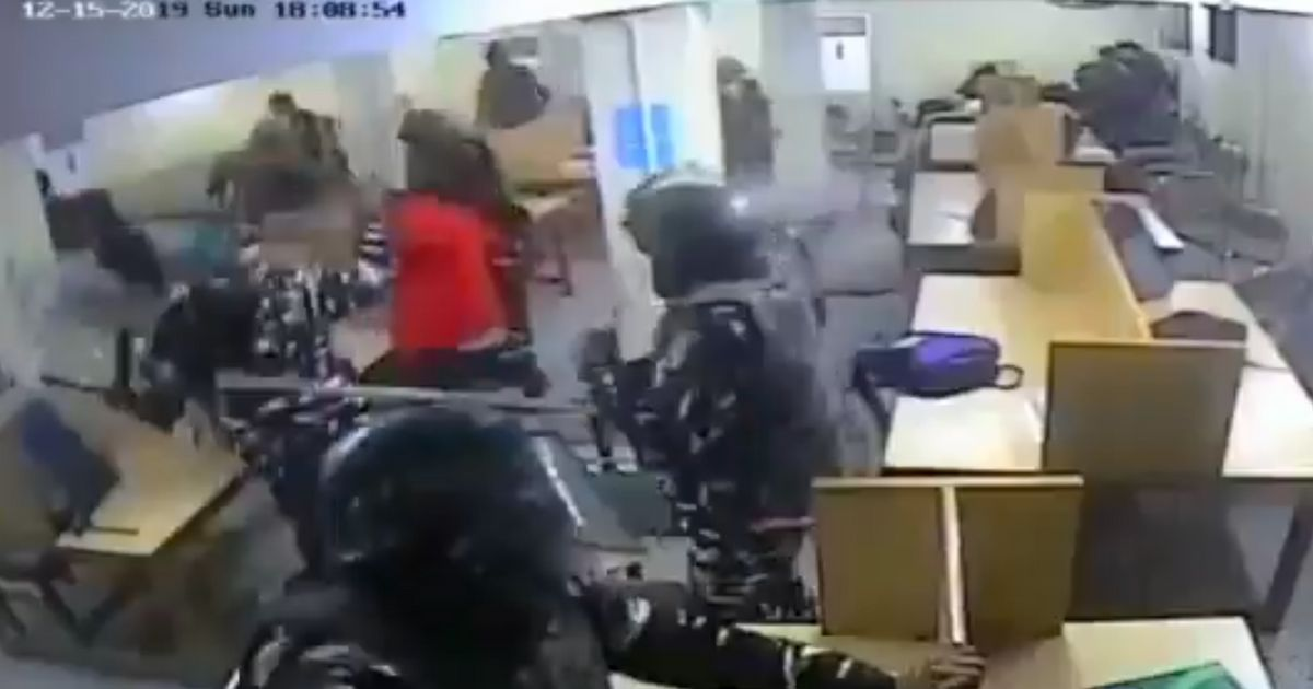 CCTV Video From Jamia Millia Islamia Appears To Show Cops Assaulting Students In Library