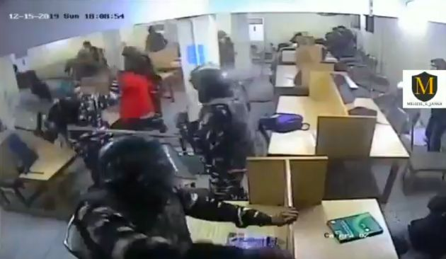 screenshot of the video recorded by a CCTV footage inside the