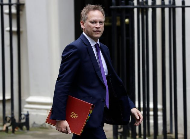 Transport secretary Grant Shapps arrives for a Cabinet meeting at 10 Downing Street in