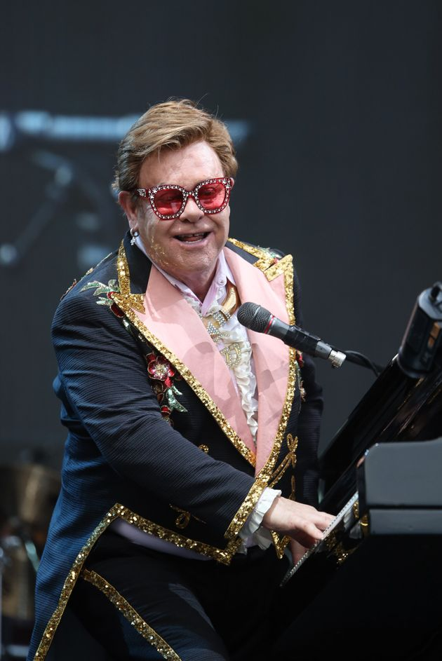 Elton John performs at Mt Smart Stadium on February 16, 2020 in Auckland, New