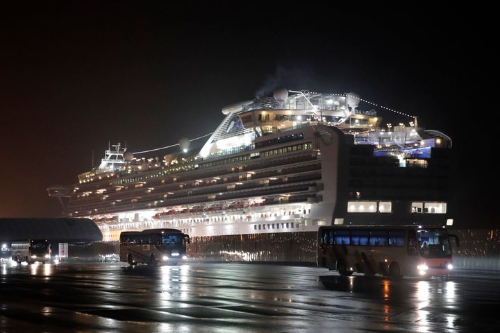 Several dozen Americans are among the 355 people who have become infected with the coronavirus while on the Diamond Princess cruise ship in Japan.