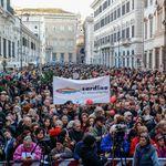 Sardine a Roma senza pienone e senza leader. San Giovanni è un