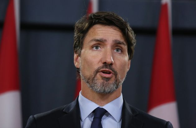 Prime Minister Justin Trudeau speaks at a news conference on Jan. 17, 2020 in