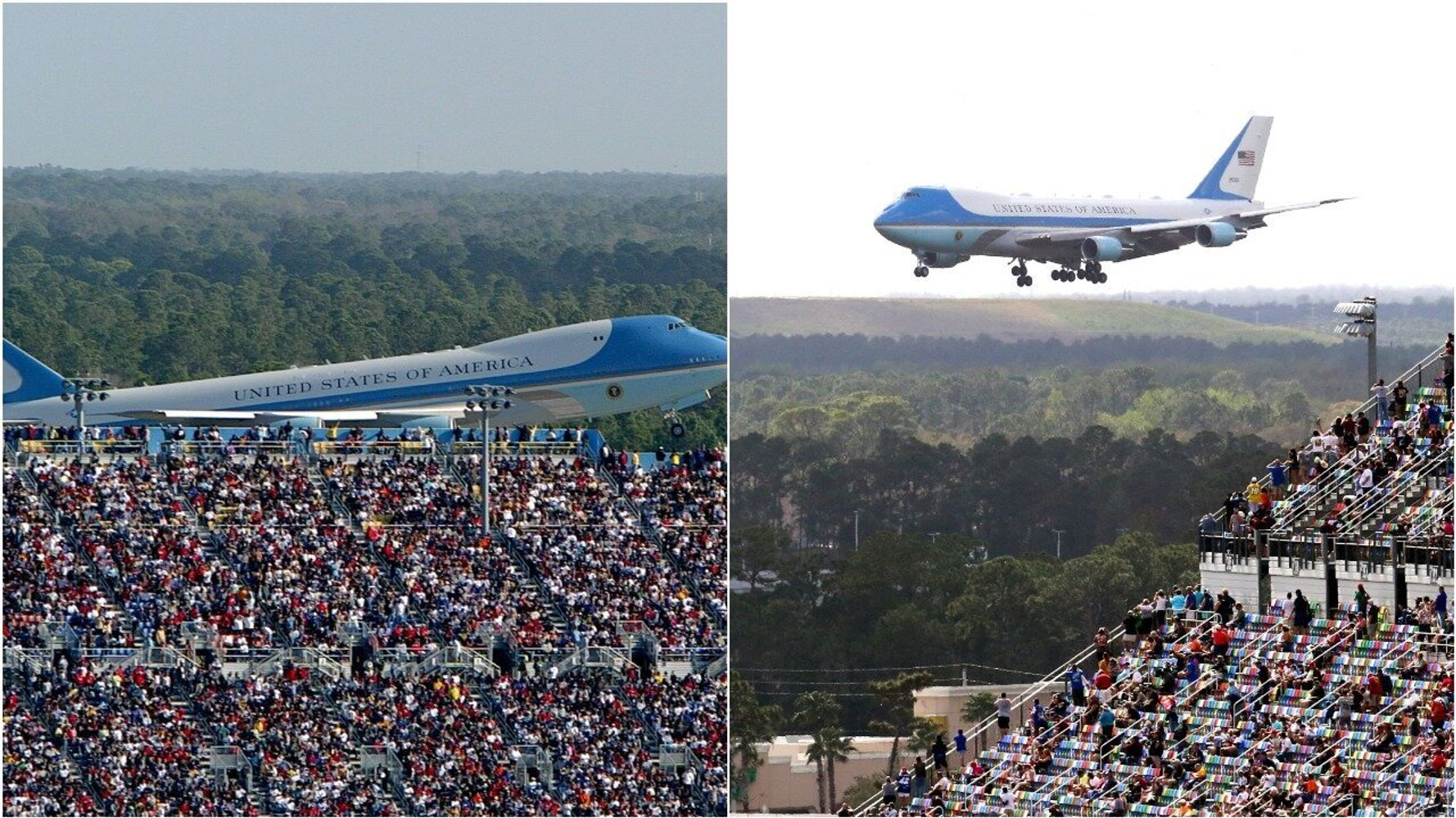 Trump Campaign Manager Tweets Photo Of Big Crowd Near Air Force One -- From 2004