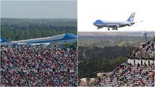 Trump Campaign Manager Tweets Foto Der Großen Menge In Der Nähe Von Air Force One Aus Dem Jahr 2004