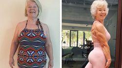 운동·식이요법으로 20kg 감량한 74세 여성의 대단한 근육