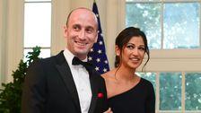 Trump Beachtet Hochzeit Von White House Aides Stephen Miller Und Katie Waldman