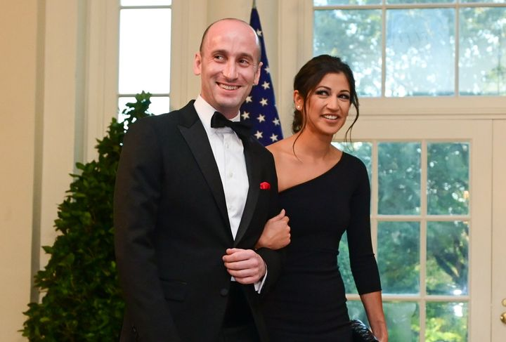 White House advisor Stephen Miller and Katie Waldman, press secretary for Vice President Mike Pence, pictured in September 20