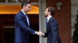 Termina la reunión entre Sánchez y Casado en La Moncloa para hablar de Cataluña, economía y el