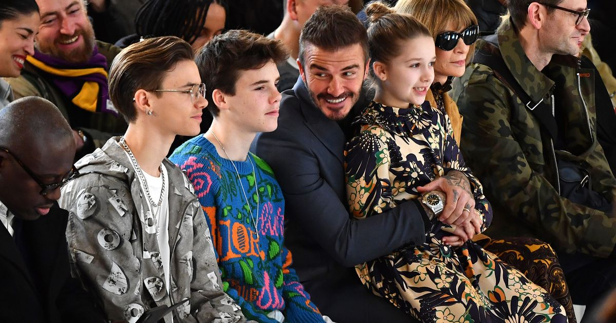 The Beckham Brood Put In Adorable Show Of Support At Victoria's London Fashion Show