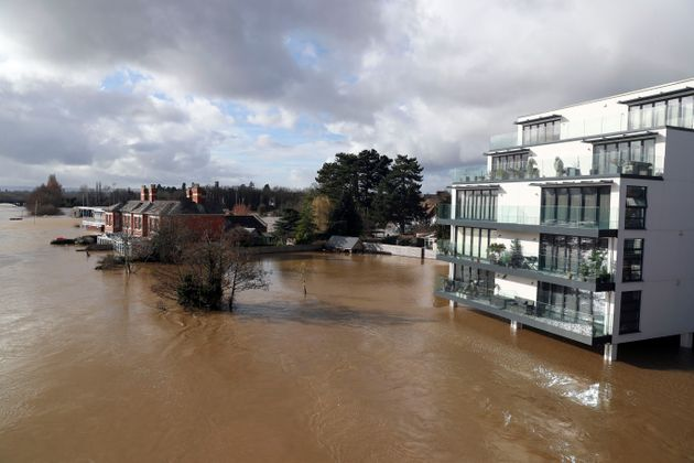 A flooded rRver Wye in