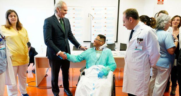 Presentación del transplante de corazón en el Hospital Puerta de