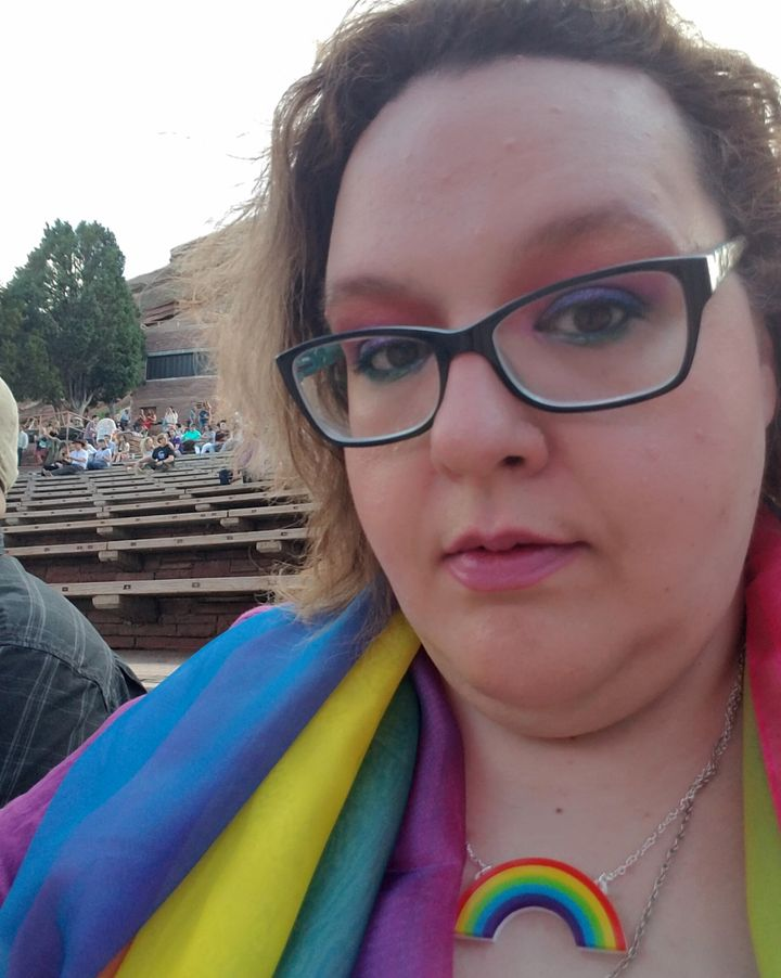 A selfie of Juliet James taken at the Kacey Musgraves show at Red Rocks Amphitheater in June 2019.