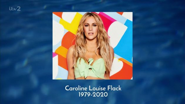 A picture of Caroline was shown at the end of narrator Iain Stirling's