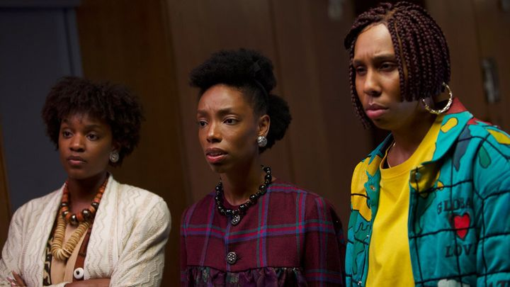 "Yaani King Mondschein, Elle Lorraine and Lena Waithe appear in ""Bad Hair"" by Justin Simien, an official selection of the Midn"