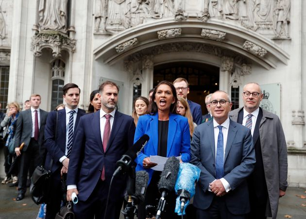 Anti-Brexit campaigner Gina Miller speaks outside the Supreme Court in London after it made its decision...