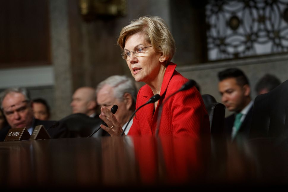 Sen. Elizabeth Warren (D-Mass.) speaks during a Senate Armed Services Committee hearing on nuclear policy on Feb. 29, 2019.&n