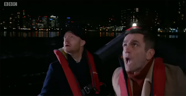 The cast filmed scenes on the Thames during nine successive night